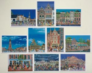 Setje van 10 verschillende kaarten van Delft € 9,00 + € 1,50 verzendkosten