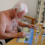 Fred aan het werk op Ibiza oktober 2014
