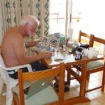 Fred op Ibiza oktober 2014 werkende aan Scharlooweg