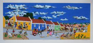 Zeefdruk Berg Altena, beeldmaat 25 x 60 cm, opl. 300 € 195,-- excl., € 295,-- incl. lijst